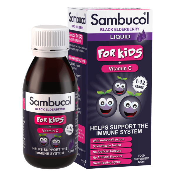 Sambucol Kids, sirop, 120ml | Suport imunitar | Sambucol® cu extract din soc