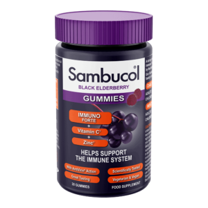 Sambucol Immuno Forte Gummies, 30 jeleuri | Suport imunitar | cu Soc Negru