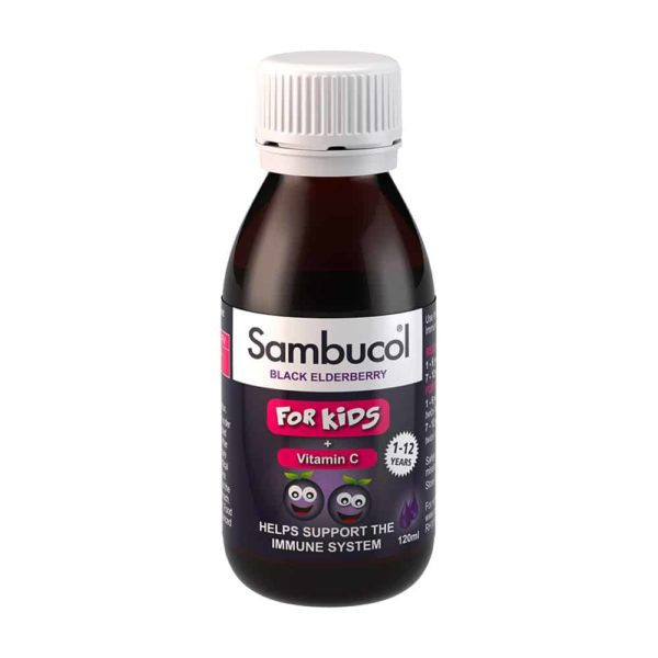 Sambucol Kids cu Soc Negru + vitamina C, sirop, 120ml | Suport Imunitar pentru copii 1-12