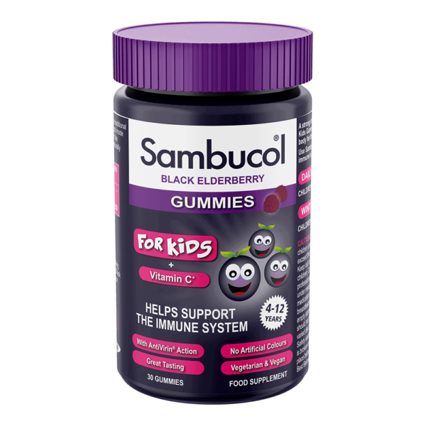 Sambucol + Vitamin C Kids Gummies, 30 jeleuri | Suport imunitar | cu Soc Negru