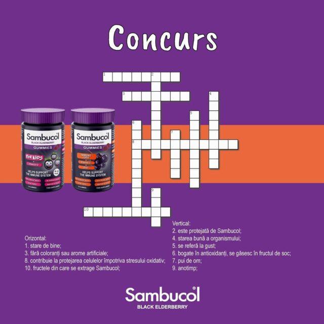 💜CONCURS💜 Avem pentru voi două seturi formate din Sambucol Gummies Kids și Sambucol Gummies Immuno Forte, plus un tote bag, dacă ghiciți cât mai multe cuvinte din acest joc! Ce trebuie să faceți? 1. Ghiciți cât mai multe cuvinte; 2. Dați follow paginii sambucolromania; 3. Tag două persoane care trebuie să afle de acest concurs; Extragem câștigătorii vineri, 31 iulie! Mult succes tuturor! 😊 _____ #sambucol #sambucolromania #sambucolro #sistemimunitar #sistemimunitarputernic #imunitate #imunitatecopii #imunitatecrescuta #imunitateafamiliei #concurs #giveaway #romania