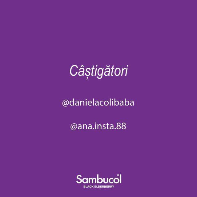 Felicitări danielacolibaba & ana.insta.88! Sunteți fericitele câștigătoare ale concursului nostru! 💜✨ Vă rugăm să ne trimiteți un mesaj privat cu datele de contact pentru a vă putea trimite premiile! Mulțumim tuturor pentru participare! 😁 _____ #sambucol #sambucolromania #sambucolro #sistemimunitar #sistemimunitarputernic #imunitate #imunitatecopii #imunitatecrescuta #imunitateafamiliei #winners #giveaway