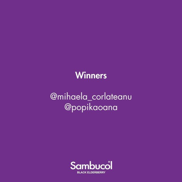 Felicitări câștigătoarelor giveawayului nostru @mihaela_corlateanu și @popikaoana! 💜 De acum, îi veți putea trimite pe cei mici la școală știindu-le imunitatea în siguranță! Vă rugăm să ne lăsați un mesaj privat pentru a vă povesti cum puteți intra în posesia premiului! _____ #sambucol #sambucolromania #sambucolro #sistemimunitar #sistemimunitarputernic #imunitate #imunitatecopii #imunitatecrescuta #imunitateafamiliei #sambucolkids #sambucolforkids #copiisanatosi #copiisimamici #copii #copiifericiti #inapoilascoala #backtoschool #romania