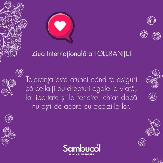 Știați că?... astăzi este Ziua Națională a Toleranței? Este o zi care ne aduce la cunoștință că trebuie să fim mai buni unii cu alții și să ne acceptăm unii pe ceilalți, chiar dacă ideile, opiniile sau credințele noastre pot fi diferite pentru că, până la urmă, oicât de diferiți am fi, suntem egali. 🕊️ Nu uitați să fiți buni, în special în această perioadă! ☮️   Ce semnifică toleranța?  1.1. Toleranța este respectul, acceptarea și aprecierea bogăției și diversității culturilor lumii noastre, felurilor noastre de expresie și manierelor de exprimare a calității noastre de ființe umane. Ea este încurajată prin cunoașterea, deschiderea spiritului, comunicație și libertatea gândirii, conștiinței și credinței. Toleranța este armonia în diferențe. Ea nu e doar o obligație de ordin etic; ea este, de asemenea, și o necesitate politică și juridică. Toleranța este o virtute care face ca pacea să fie posibilă și care contribuie la înlocuirea culturii războiului cu o cultură a păcii.  1.2. Toleranța nu este nici concesie, nici condescendență ori indulgență. Toleranța este, mai ales, o atitudine activă generată de recunoașterea drepturilor universale ale persoanei umane și libertăților fundamentale ale altora. În nici într-un caz, toleranța nu poate fi invocată pentru a justifica violarea acestor valori fundamentale. Toleranța trebuie să fie practicată de către indivizi, grupuri și State.  1.3. Toleranța este responsabilitatea care susține drepturile omului, pluralismul (inclusiv, pluralismul cultural), democrația și Statul de drept. Ea implică respingerea dogmatismului și absolutismului și confirmă normele enunțate în instrumentele internaționale cu privire la drepturile omului.  1.4. În conformitate cu respectarea drepturilor omului, a practica toleranța nu înseamnă nici a tolera nedreptatea socială, nici a renunța la propriile convingeri, nici a face concesii în această privință. Ea semnifică acceptarea faptului că ființele umane, care se caracterizează natural prin diversitat