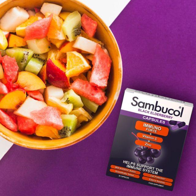 O salată de fructe este alegerea perfectă și plină de vitamine pentru atunci când ți-e poftă de ceva dulce și sănătos. Adaugă și o porție de Sambucol, astfel încât să ai tot pachetul de vitamine complet! 💜 _____ #sambucol #sambucolromania #sambucolro #sistemimunitar #sistemimunitarputernic #imunitate #imunitatecopii #imunitatecrescuta #imunitateafamiliei #socnegru #natural #antioxidanti #antioxidantinaturali #romania