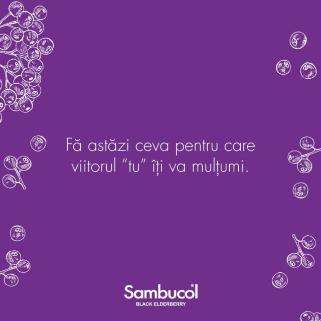 Este o perioadă ciudată pentru cei mai mulți dintre noi. Dar chiar și așa, este important să avem grijă de noi și de cei dragi nouă și să încercăm, pe cât posibil, să fim mai buni și să evoluăm.  Așadar, nu uita să faci ceva pentru care tu din viitor îți va mulțumi. Învață ceva nou, fă-ți un plan de exerciții, ia micul dejun și nu uita de Sambucol! 💜 _____ #sambucol #sambucolromania #sambucolro #sistemimunitar #sistemimunitarputernic #imunitate #imunitatecopii #imunitatecrescuta #imunitateafamiliei #socnegru #natural #antioxidanti #antioxidantinaturali #romania