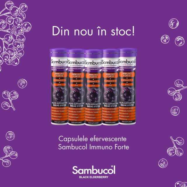 💜 Vești bune! 💜 Capsulele voastre preferate Sambucol Immuno Forte sunt din nou în stoc! Le găsiți pe sambucol.ro, sau direct pe linkul din bio! 😊 _____ #sambucol #sambucolromania #sambucolro #sistemimunitar #sistemimunitarputernic #imunitate #imunitatecopii #imunitatecrescuta #imunitateafamiliei #capsule #vitaminac #zinc #natural #socnegru #antioxidantinaturali